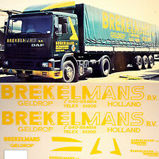 DAF Spedition Brekelmans Holland (NL) 1:87 Truck Decal LKW Abziehbild