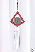 NC State Wolfpack STAINED GLASS WIND CHIME Ornament North Carolina suncatcher
