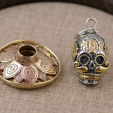 925 Sterling Silver Thailand skull hat pendant charm jewelry  unique sytle S23