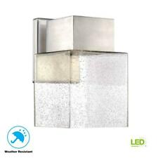 Home Decorators Essex Outdoor Light LED Wall Lantern Sconce Brushed Nickel