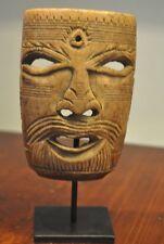 Unique Vintage ID masque avec troisième oeil-Bhotia-Tibet-début du 20th Siècle