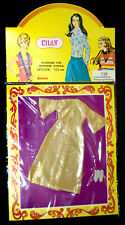 CILLY VINTAGE 70er PUPPENKLEIDER TOPPER DAWN OUTFIT 15cm DOLLHOUSE OVP SEALED