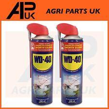 2 X WD40 WD-40 Multi-Use Smart Straw 450ml Spray Aerosol Clean Rust Lubricant