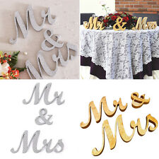 Mr and Mrs Sign Bride And Groom Cake Topper Gold Silver Wedding Decorations Hot