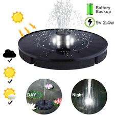 Solar Power Floating Brushless Water Pump Fountain With LED Night Lights New 12
