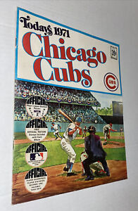 VTG Today's 1971 Stamp Book, Chicago Cubs w/ STAMPS Ernie Banks Jenkins Santo