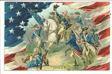 Washington at Battle of Princeton Tuck Washingtons Birthday #156 Pittsfield 1909