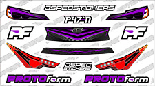 CUSTOM RC BODY HEADLIGHT GRILL STICKER DECAL SET PROTOFORM P47-N 1/10 PURPLE