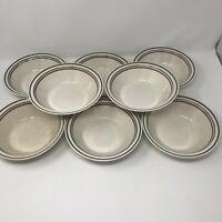 Vtg Shannon Aran Stone Brownwick Salad Bowls Dinnerware Made In Ireland Lot of 8