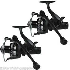 2 x DYNAMIC 6000 CARP DELUXE FISHING FREE RUNNER REELS 10BB WITH SPARE SPOOL