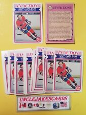1982-83 OPC #187 GUY LAFLEUR IN ACTION MONTREAL CANADIENS O-PEE-CHEE