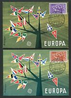 "FRANCE MK 1960 EUROPA CEPT ""STRASBOURG"" 2 MAXIMUMKARTEN MAXIMUM CARD MC CM c9500"