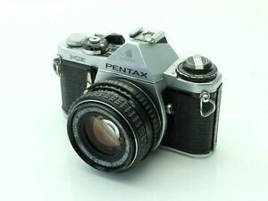 Asahi Pentax ME 35mm SLR Camera with SMC Pentax M 50mm 1.7 Lens
