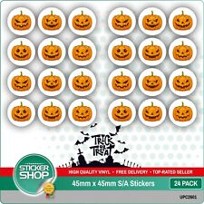 PUMPKIN HALLOWEEN TRICK OR TREAT VINYL STICKERS PARTY BAGS CARDS CRAFTING SPOOKY