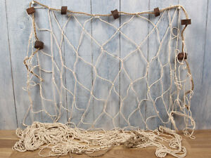 Deko Fischernetz ca. 1,2  x 2,5m beige mit 7 Schwimmern maritime Dekoration