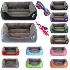 UK Pet Dog Cat Bed Kennel Mat Warm House Puppy Cushion Soft Blanket Washable mat