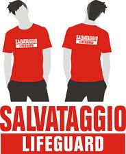 T-shirt Bagnino Maglia Bagnino Canotta Salvataggio T-shirt Lifeguard cappellino