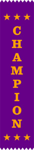 100 Champion Award Ribbons 200 x 50 mm - Metallic GOLD print - Free post