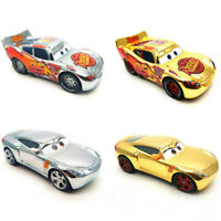 Disney Pixar Cars Golden Silver Lightning Mcqueen Metal Diecast Model Toy Car