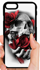 SKULL SKELETON ROSES PHONE CASE COVER FOR IPHONE XS MAX X 8 PLUS 7 6S PLUS 5 5C