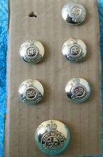 6 Royal Army Service Corps Anodized Buttons RASC