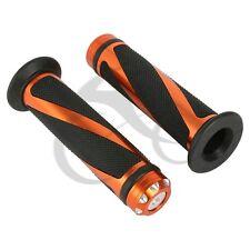 """7/8"""" 22mm Handlebar Orange Hand Grips For Honda CBR1000RR CBR250 CBR600RR 900RR"""