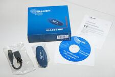 Allnet ALL0263RP, Wireless LAN USB Adapter, 54Mbit, WPA WPA2, incl. Software neu