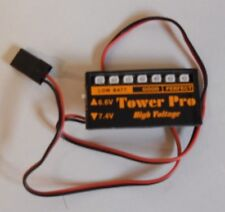 TOWER PRO 6.6 OR 7.4 VOLT SWITCHABLE ON BOARD LIPO VOLT SPY 6.6v or 7.4volts new