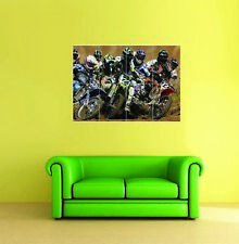 Motocross Dirt Bikes sport race moteur Giant Art Print Home Decor Poster