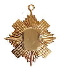 Masonic Freemasonry Gilt Breast Jewel Star-Shaped Backing Piece - W104