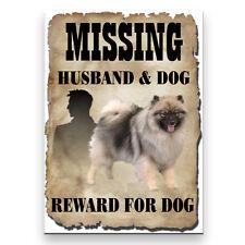 Keeshond Husband Missing Reward Fridge Magnet New Dog