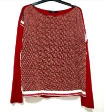 Weekend Maxmara Red Horsebit Silk Top