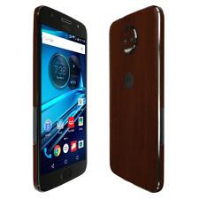 Skinomi TechSkin - Dark Wood Skin & Screen Protector for Moto G5s Plus