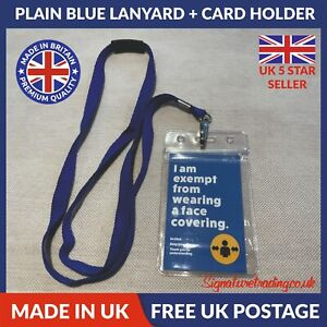 Face Mask Exemption Pack - Lanyard, PVC Card Holder and Printed Card