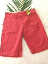 Old Navy Low Waist shorts Size L, dark Coral color, 5 pockets NEW With Tags