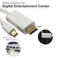 Gold 6ft Thunderbolt Mini DisplayPort DP to HDMI Cable Macbook Pro Air ThinkPad