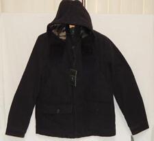 G.H. BASS & CO. Men's Black Canvas Heavy Hooded Winter Jacket Size Medium NEW