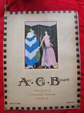 Art Gout Beauté  Feuillets de l'élégance féminine  sept 1922  fashion art-déco