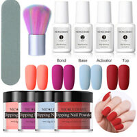 10PCS/Set NICOLE DIARY Dipping Powder Liquid Nail Brush Nail Starter Kit NO UV