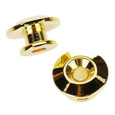 2pcs Golden Strap Button w/ Mounting Screw for Guitar Mandolin DT