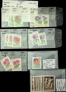 HUNGARY 1931-68 FLOWERS/ PAINTINGS RANDOM COLLECTION OF 20v USED STAMPS
