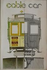 CABLE CARS, 1978 BOOK (SAN FRANCISCO SYSTEM) AS IT IS, HOW IT WORKS, AS IT WAS