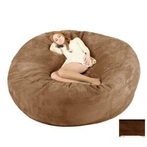 Microsuede Lazy Sofa Oversized 7ft Giant Huge Bean Bag Memory Cover Living Room