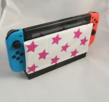 Switch Dock Sock - Nintendo Switch Dock Cover - Pink Stars - Cotton Sleeve Gift