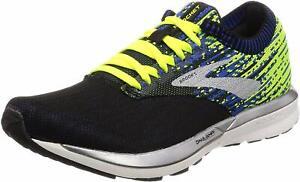 Brooks Mens Ricochet Running Shoes, Black/Nightlife/Blue