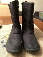 Womens Black POLAR EDGE Boots with Side Zippers Sz 10