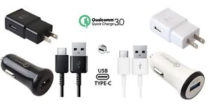 Adaptive Fast Turbo QC 3.0 Car+2.0A Rapid Home Charger with 2 x Type C Cables