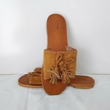 SEED HERITAGE Tan Suede Leather Slides - Size 40 (BNWOB)