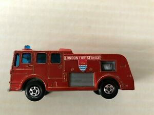 Vintage 1969 Lesney Matchbox Merryweather Fire Engine Series No.35 A++Condition!