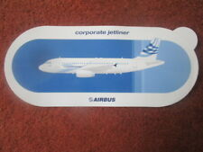 AUTOCOLLANT STICKER AUFKLEBER AVION AIRBUS CORPORATE JETLINER A318